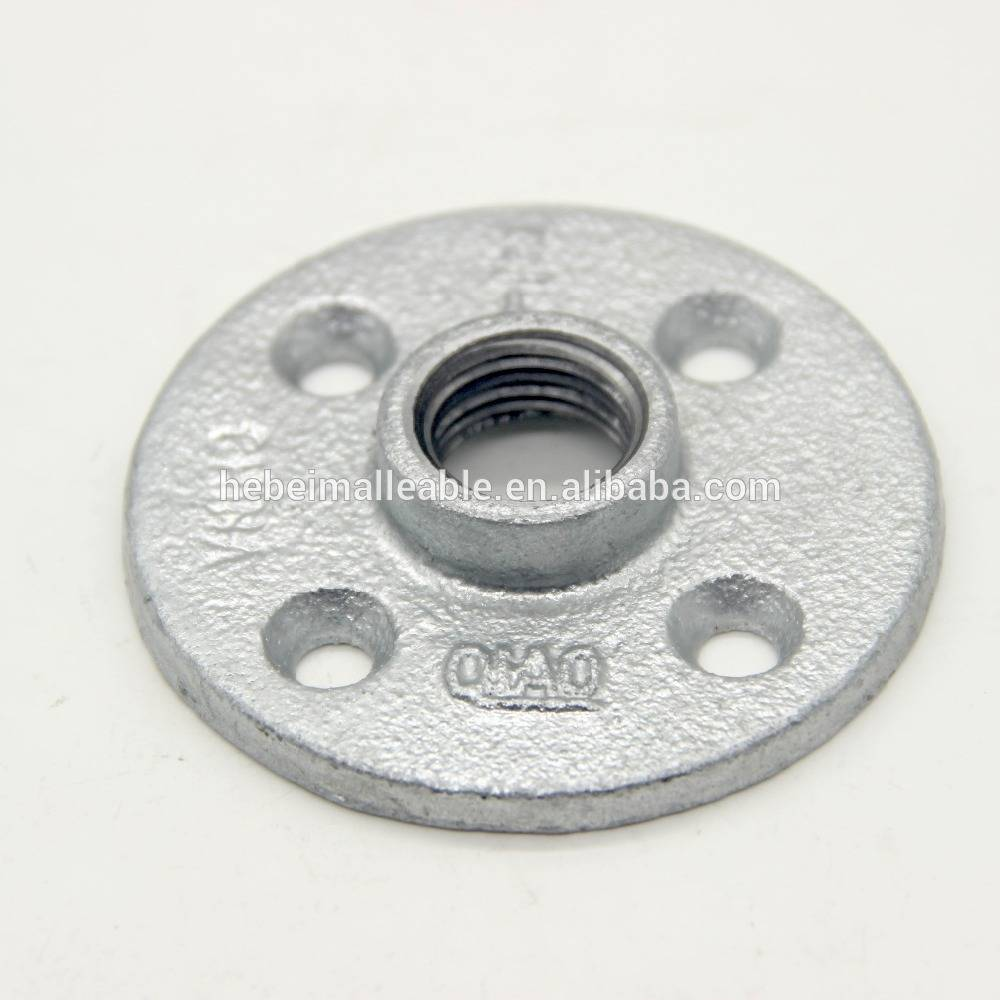 BS standard malleable cast iron pipe fitting flange