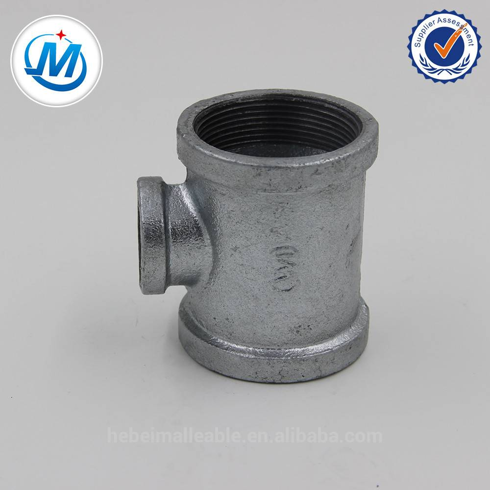 ANS/ASME/NPT tee banded equal malleable pipe fitting