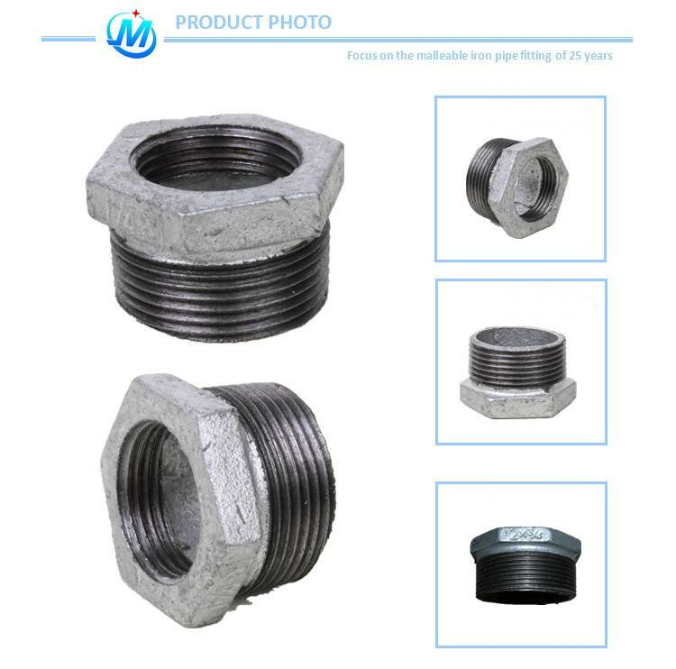Black cast iron pipe fitting for furniture and decoration