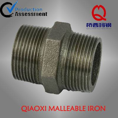 Manufacture Black Galvanized Male Threaded Nipple Malleable Cast Iron Pipe