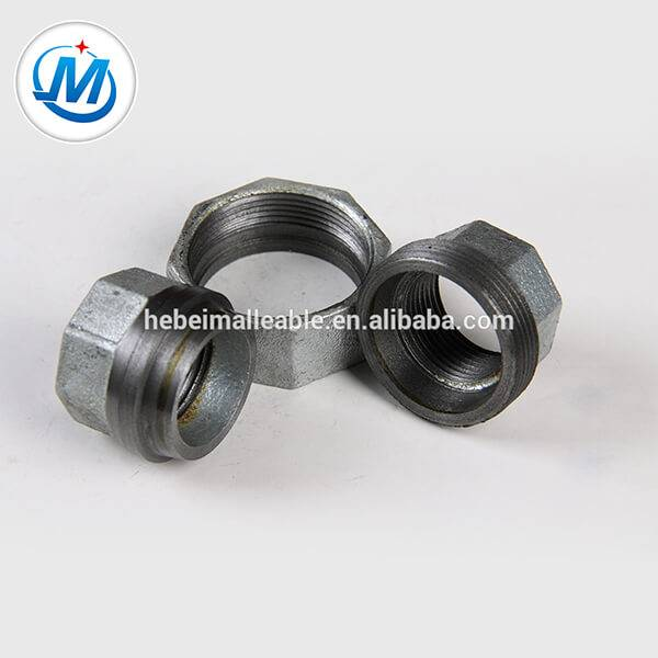 NPT Standard galvanized Malleable iron pipe fitting conical Joint union Featured Image