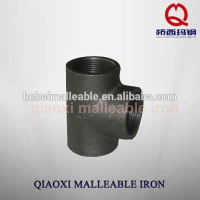 "applicable gas malleable iron pipe fitting ISO gi 1"" plain tee"