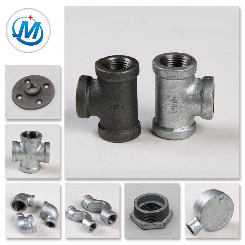 3/4 malleable galvanized iron screwed pipe fittings joint