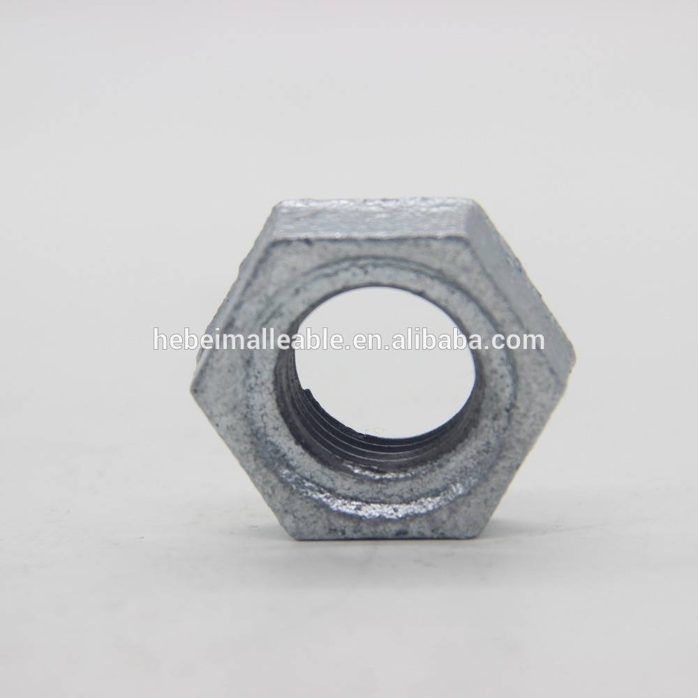 "1-1/4"" malleable iron pipe fitting locknut"