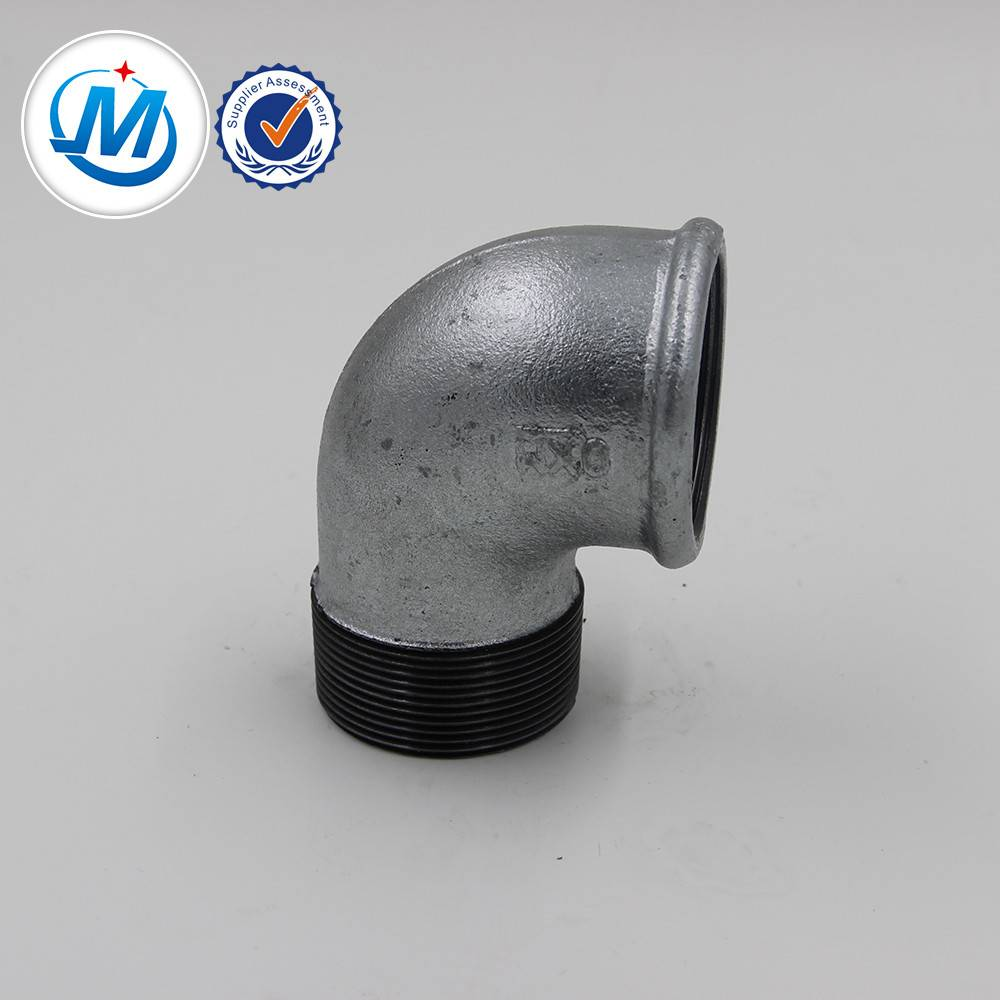 malleable iron pipe fitting street elbow 90 degree and the logo is QIAO or QXM