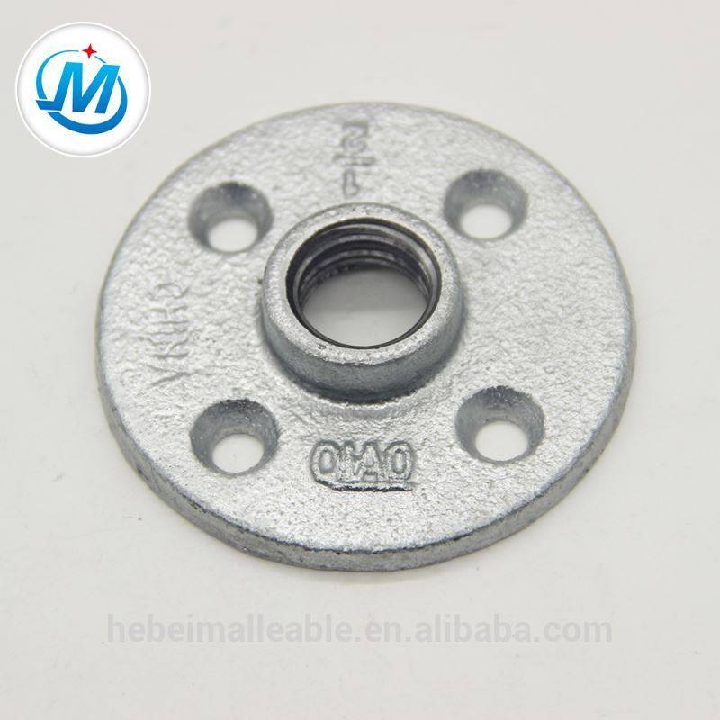 malleable iron galvanized floor flange