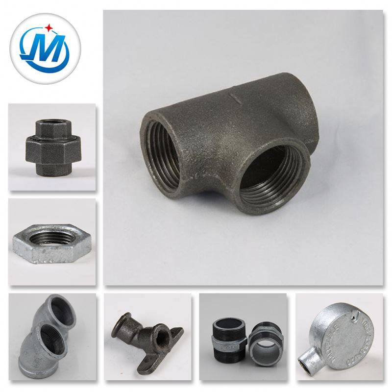 DIN Standard Gas Connect Threaded Gi m.i Malleable Iron Pipe Fitting