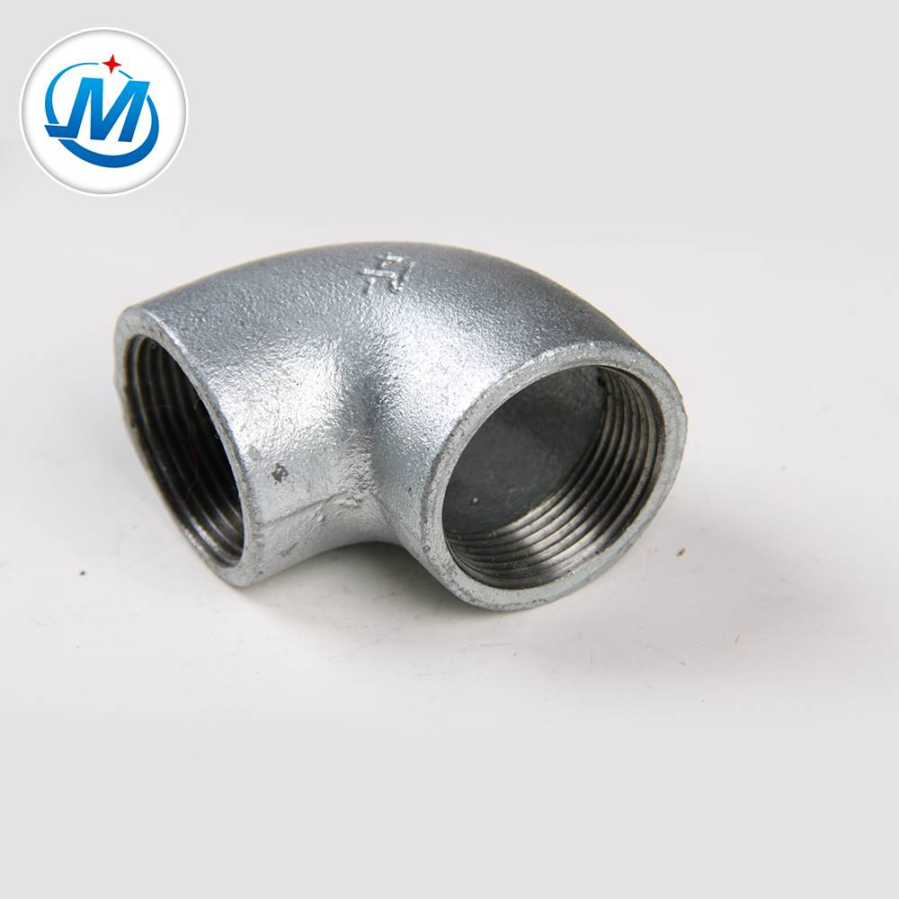 "malleable iron pipe fitting gi bs din npt thread 1-1/2"" Plain Elbow"