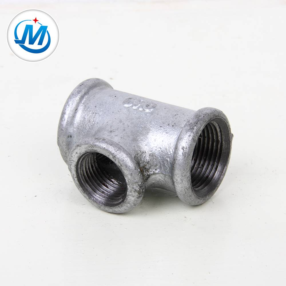 "wholesale malleable cast iron pipe fitting MI pipe fitting tee 1/8""-6"" low price"