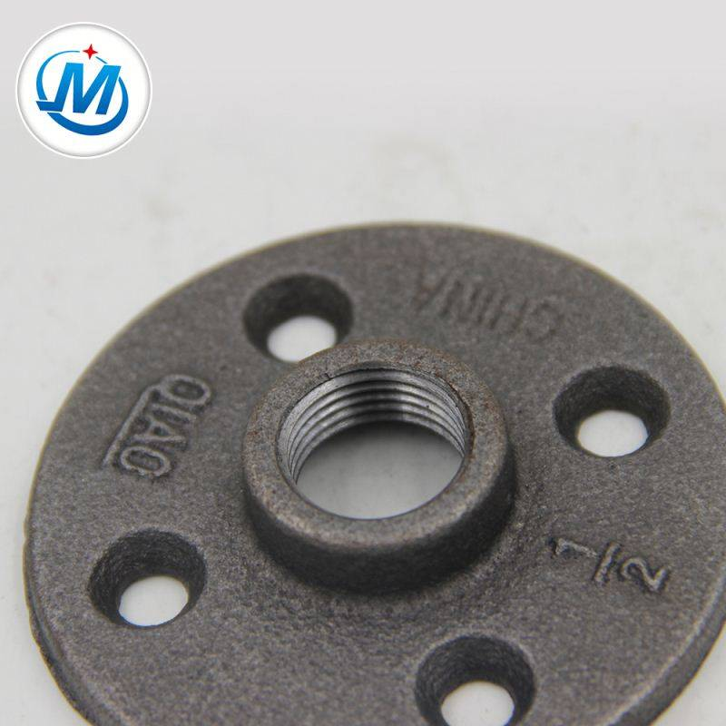 Small MOQ Factory Direct Sale Black Malleable Iron Galvanized Pipe Fittings Flanges