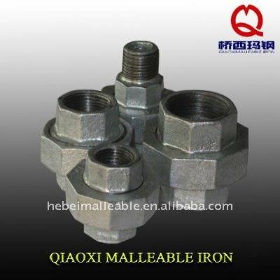 hebei factory union galvanized malleable cast iron pipe fitting names and parts
