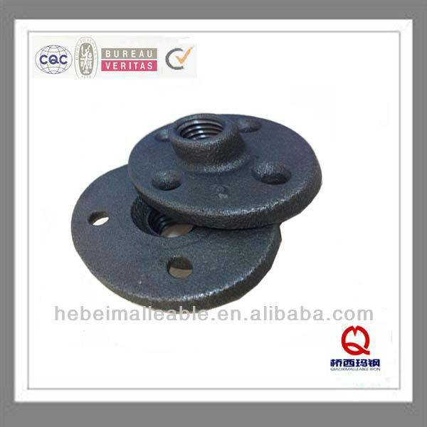 "QIAO npt 1/2""malleable iron threaded flange with four holes"