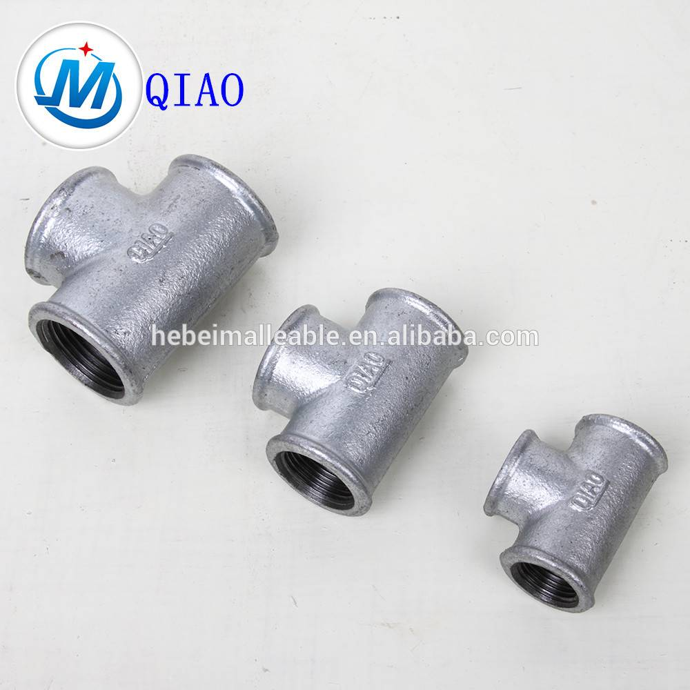high quality fitting black iron fitting tee malleable iron pipe fitting