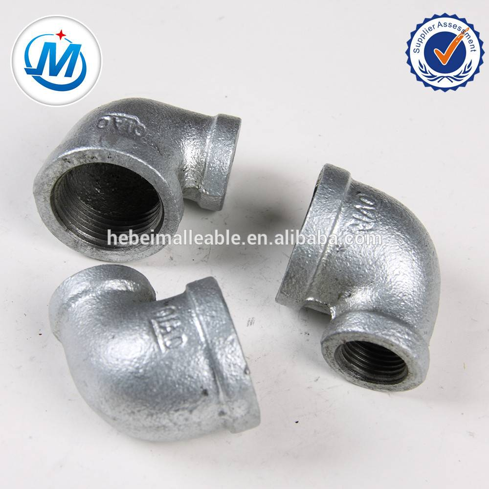 Electrical Galvanized Malleable Iron Pipe Fittings Reducing Elbow