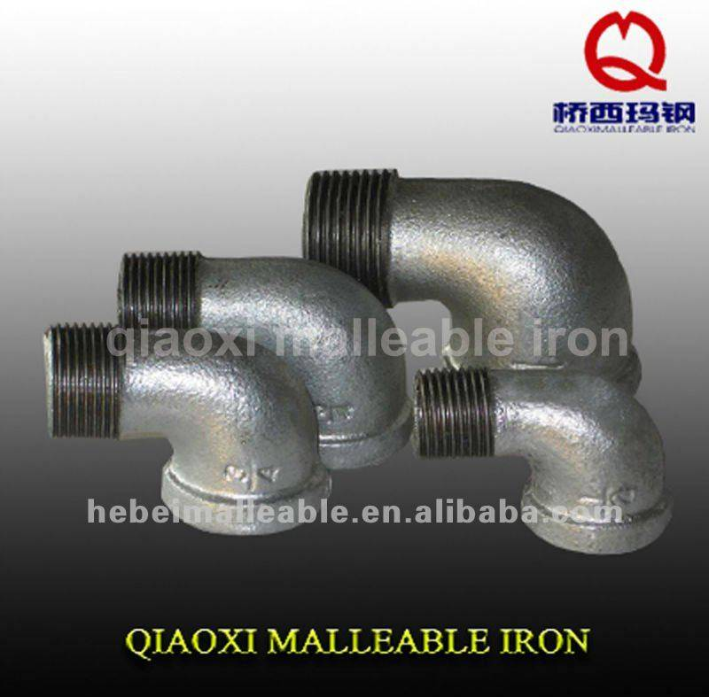 150 lbs galvanized Pipe fittings male and female Elbow 90 degree banded equal