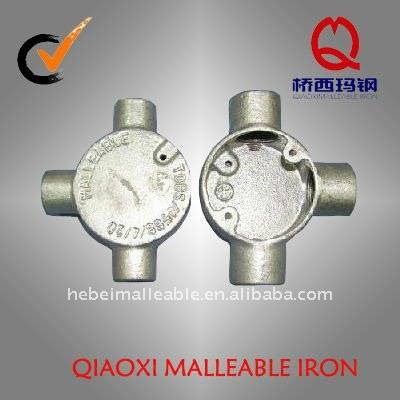 gi malleable iron pipe fitting tee electrical conduit box