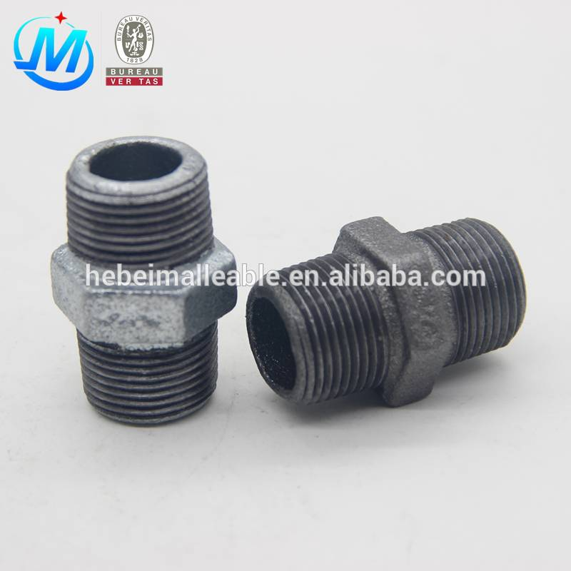 Galvanized Malleable Cast Iron pipe fitting Hexagon Nipple