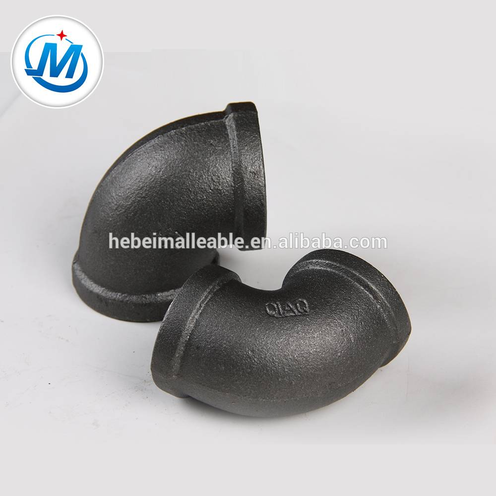 malleable iron pipe fitting with Black Surface new product elbow