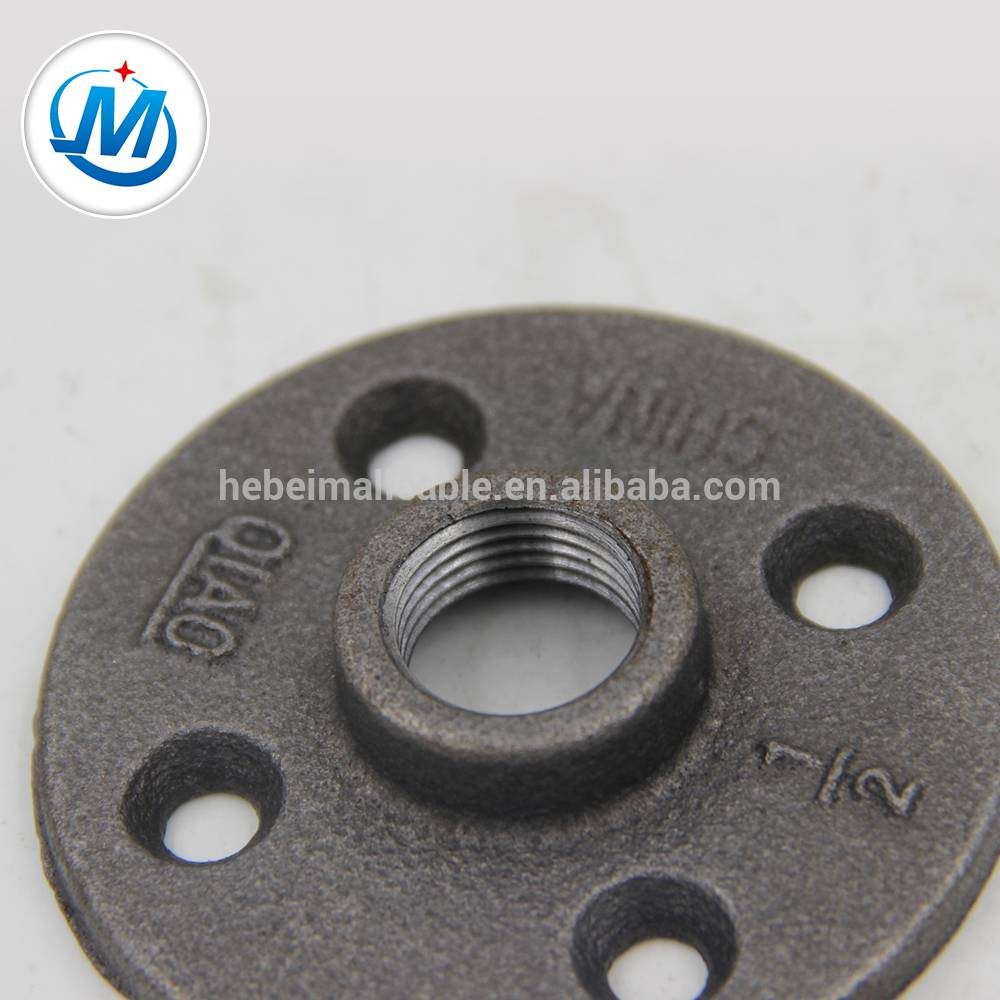 "QIAO150 lbs 3/4"" malleable iron pipe fitting thread flange with four holes"