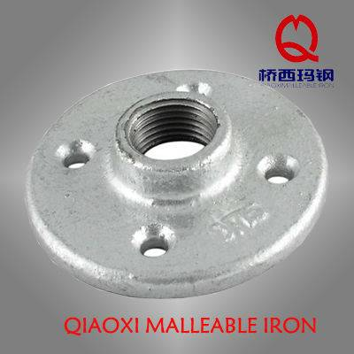 electric galvanized Malleable Iron Pipe Fitting floor flange