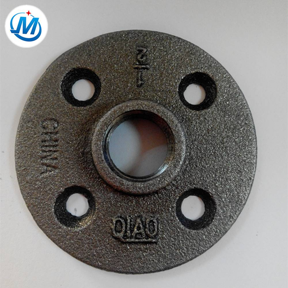 black ductile cast iron pipe fittings flange adapter