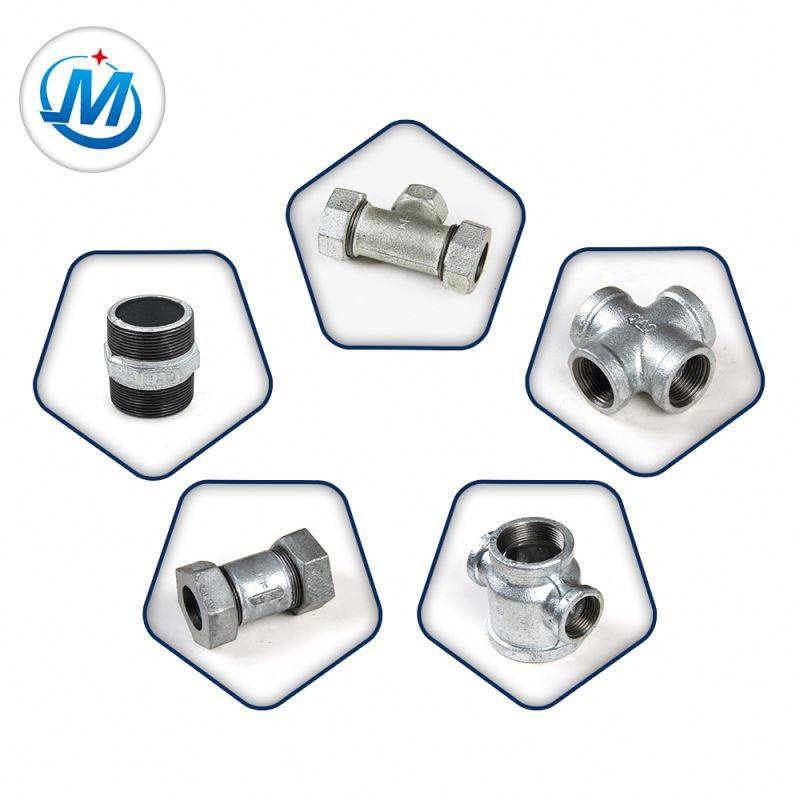 Direct From Factory 2.4Mpa Test Pressure BS Thread Galvanized Malleable Iron Water Supply Pipe Fittings