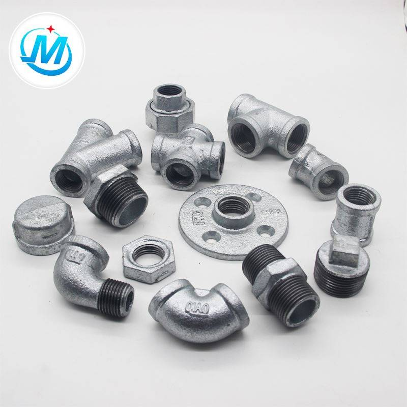 galvanized banded malleable iron equal pipe fittings