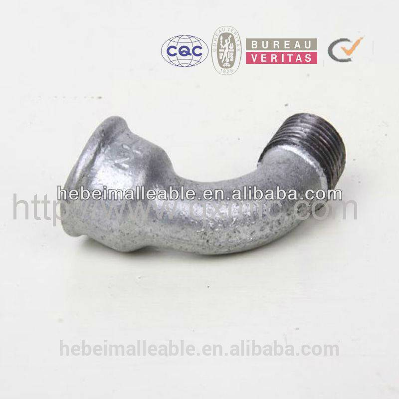 2015 new hebei factory supply galvanized malleable cast iron bend ANSI standard threaded pipe fitting names and parts