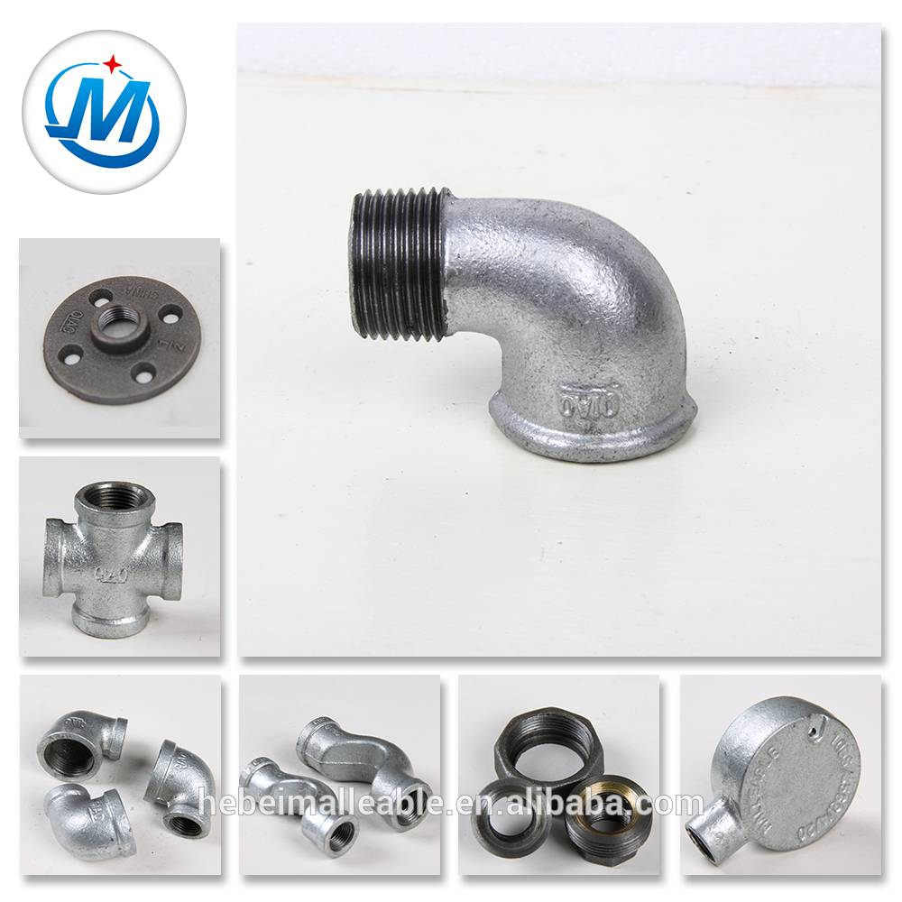 beaded malleable iron pipe fittings