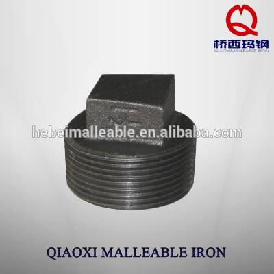hebei NPT standard Good qualitymalleable iron pipe fitting Plain plug