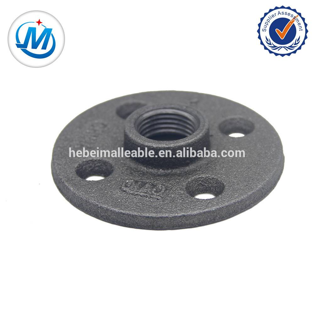1/2 inch black cast iron pipe fittings floor flange