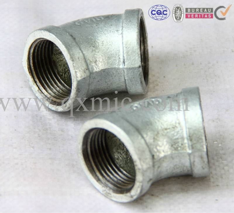 Banded GI lijevanog željeza Elbow cijev Temper Iron Pipe Fittings
