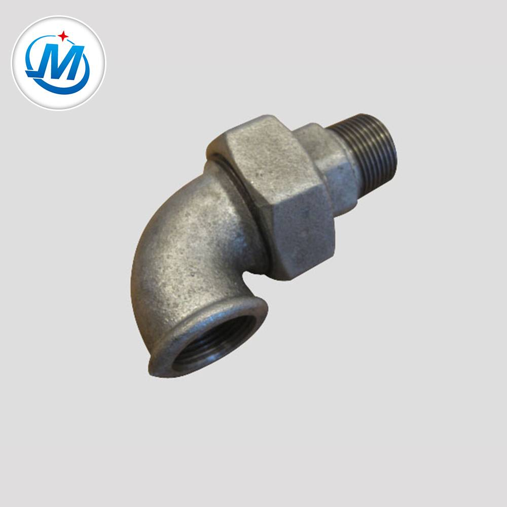 Galvanized Surface Pipe Fitting Union Elbow