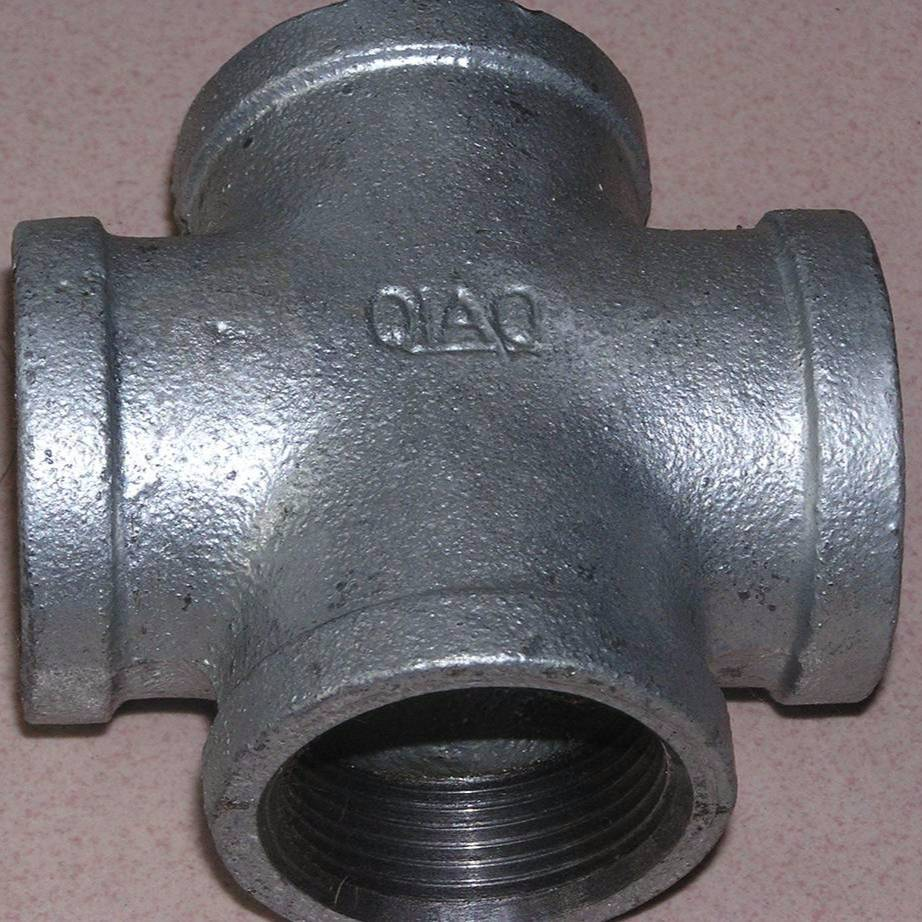Best Selling Malleable Iron 4 Way Pipe Fitting Cross