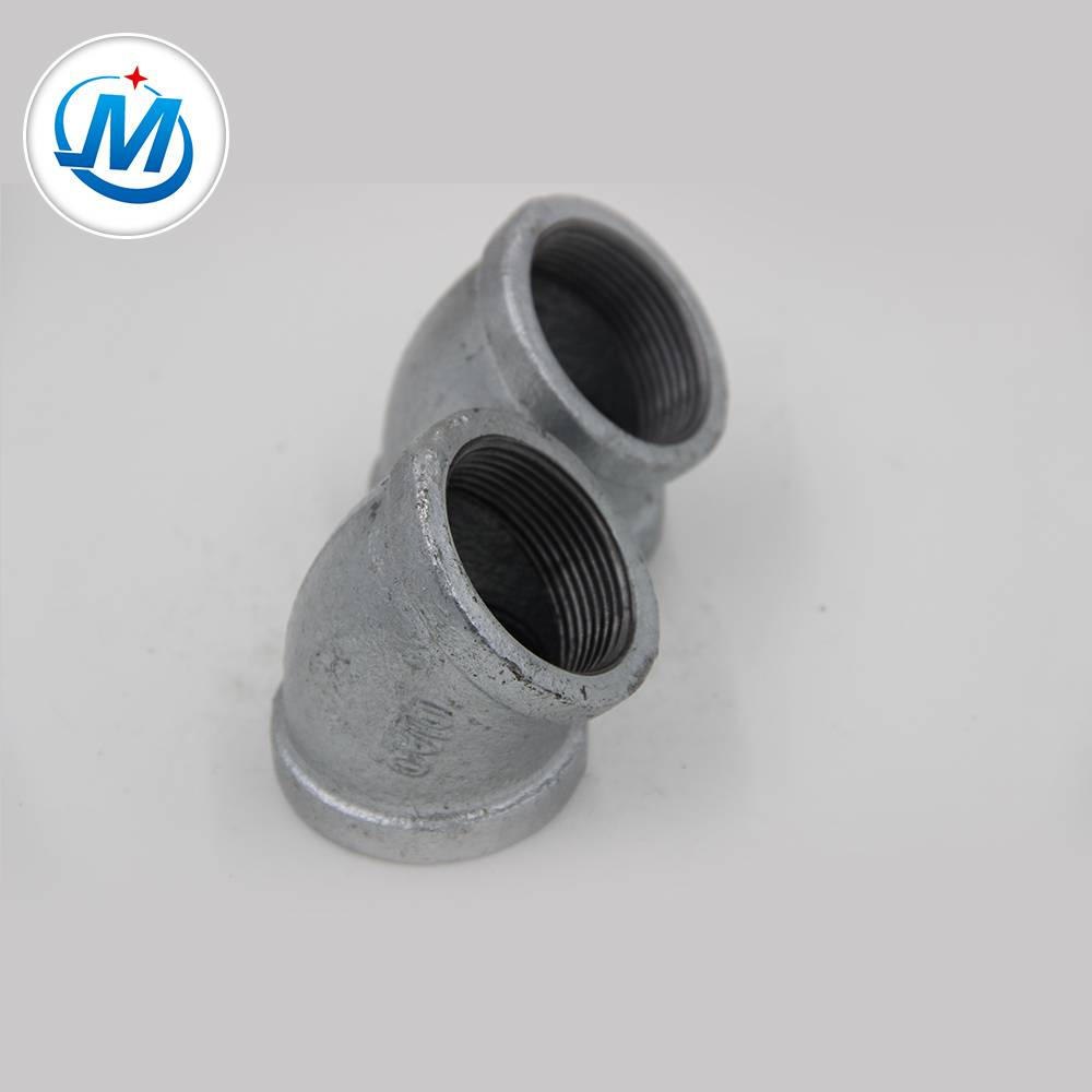 BS Standard ANSI Threading Hot Dipped Galvanized Pipe Fittings 45 Degree Elbow