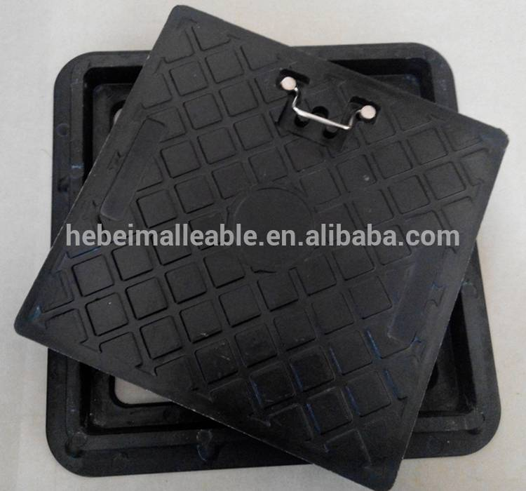 square composite manhole cover EN124 D400/plastic manhole cover/waterproof manhole cover