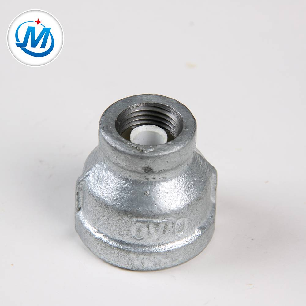 Gi Pipe Fittings Malleable Iron Concentric Reducing Socket With Lining Plastic