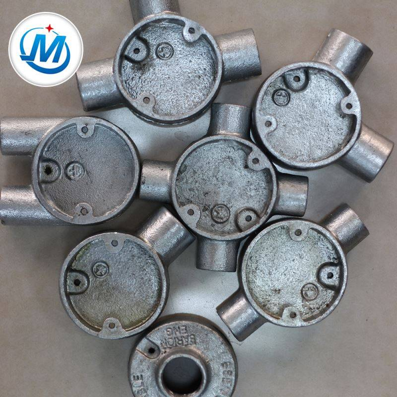 Professional Enterprise Water Supply Different Size Malleable Iron Metal Junction Box