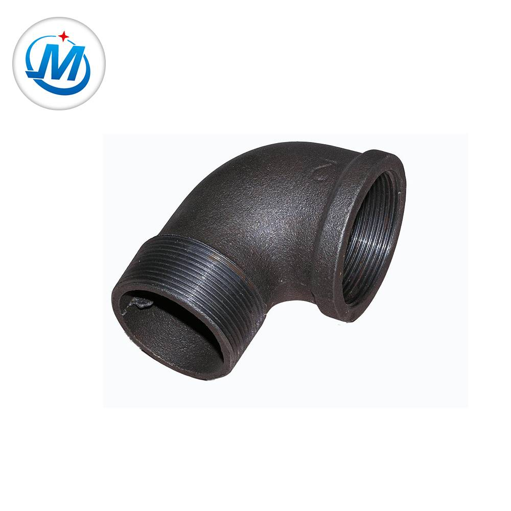din standard malleable iron pipe fitting casting street elbow 90degree