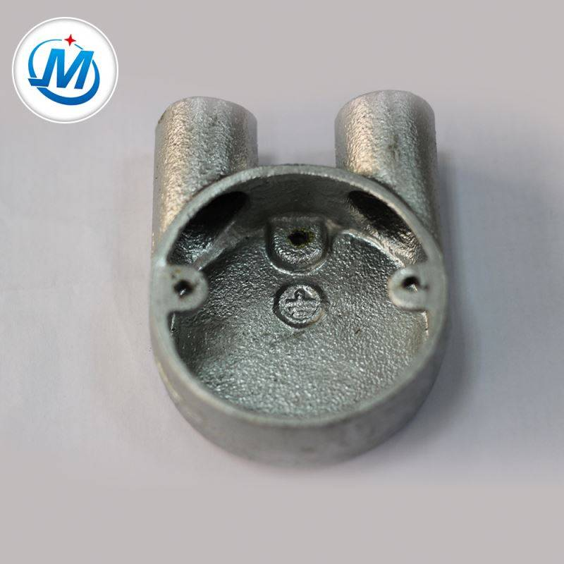 Istehsal Təhlükəsiz Water Supply iki Way Malleable Iron Junction Box
