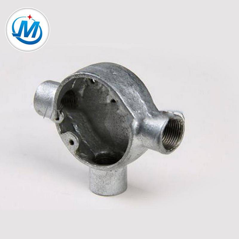 ISO 9001 Certification Water Supply Malleable Iron Junction Box 3 Way