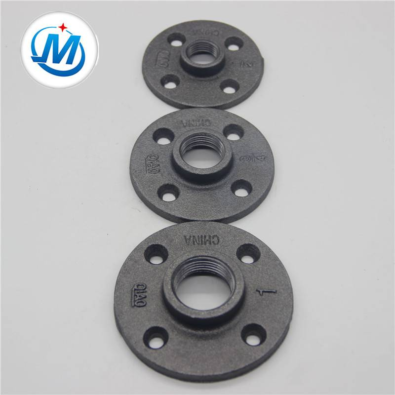 Malleable iron pipe fittings floor flange hot dipped galvanized and black Featured Image