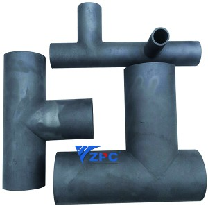 Wear resistant silicon carbide TEE pipe