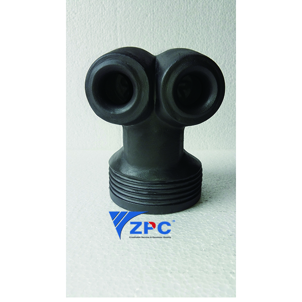 8 Years Exporter Flame Outdoor Heater - DN80 double hollow twine silicon carbide vortex nozzle,Two-Way Nozzle – ZhongPeng