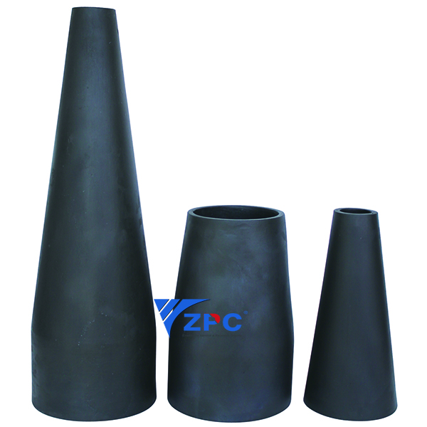 Chinese Professional Wear and Corrosion Resistant Inner Lining - Reaction-bonded silicon carbide lining, Technical ceramic Taper sleeve – ZhongPeng