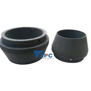 Super wear resistant RBSC (SiSiC) cone