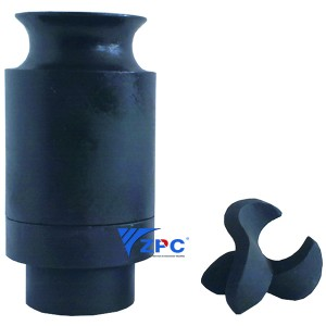 New Delivery for Rbsic (Sisic) Three Exchanges - Low Flow, Full Cone, Maximum Free Passage  RBSC nozzle – ZhongPeng