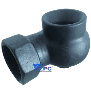 DN40 vortex hollow cone silicon carbide nozzle