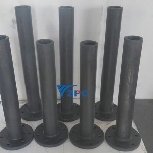 Thick walled silicon carbide tube
