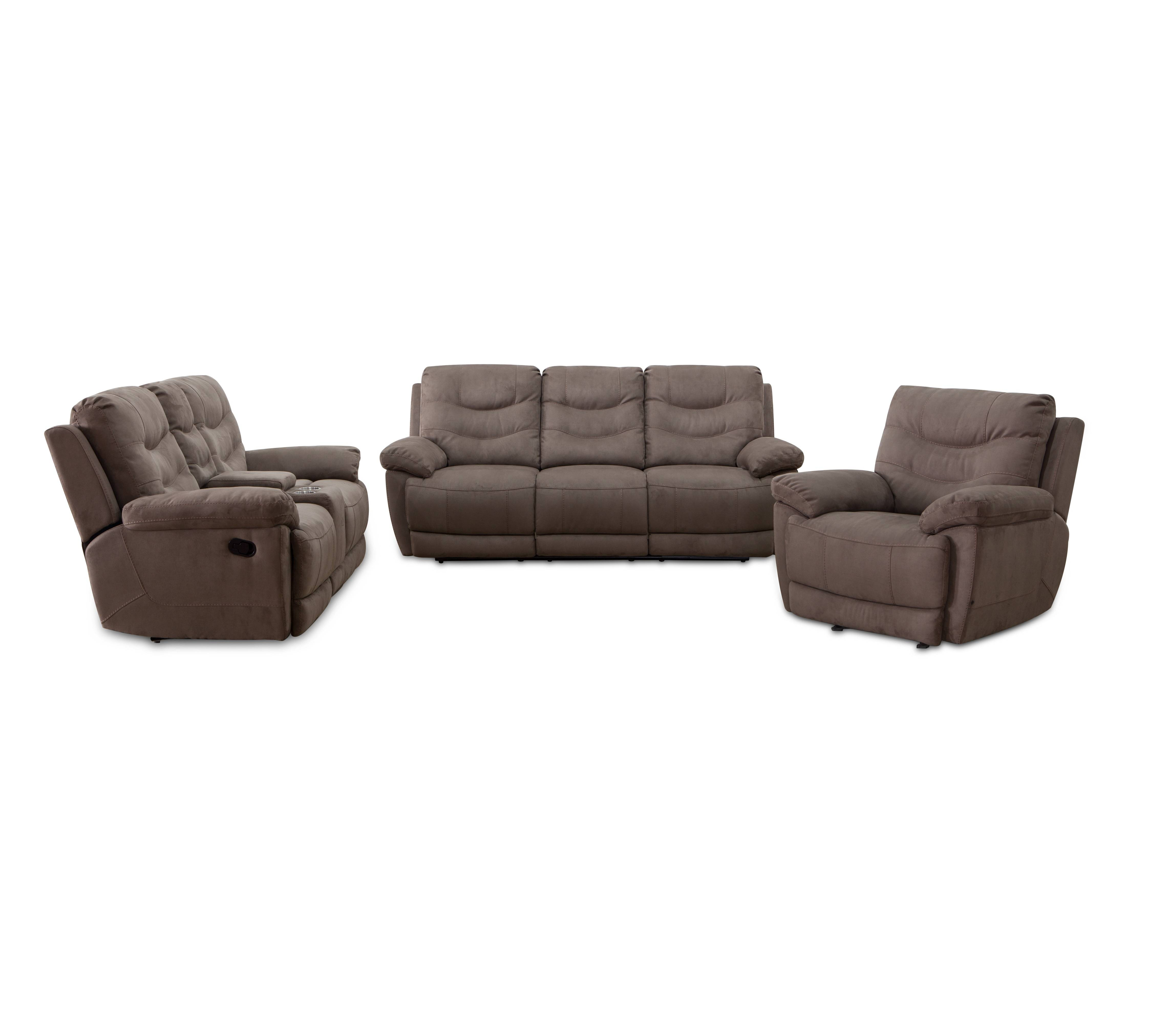 Modern American Style 1+2+3 Fabric Motion Recliner Sofa
